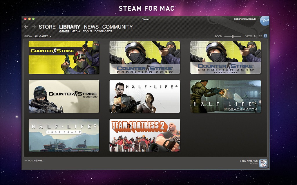 macOS on Steam Browse the newest, top selling and discounted macOS supported games New and Trending Top Selling What's Being Played Upcoming Results exclude some products based on your preferences. Free to Play. Build a Game Universe. Early Access, Free to Play, Early Access, Casual%. $ $ Gerty. Early Access, Indie.