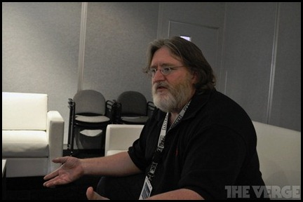 Gabe Newell on The Verge