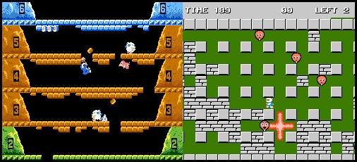 Ice Climber vs Bomberman