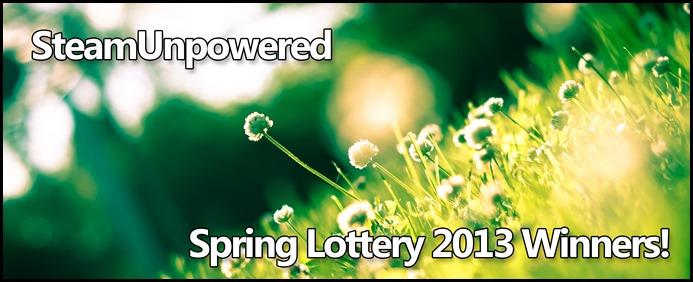 Spring Lottery 2013 Winners