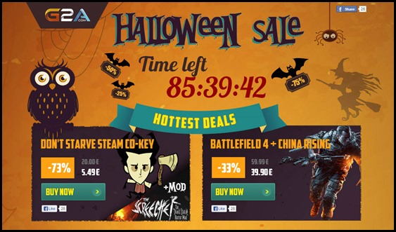 Halloween Sale on G2A - up to 86% off!   Steam Unpowered