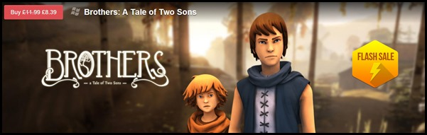 Brothers a Tale of Two Sons Flash Sale on GameFly