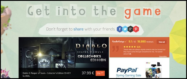 G2A Weekly Sale GET INTO THE GAME