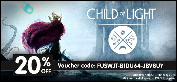 Child of Light 20% off, UPlay redeemable