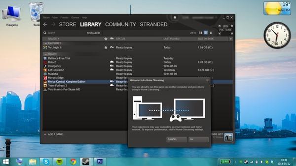 Laptop Launching Mortal Kombat