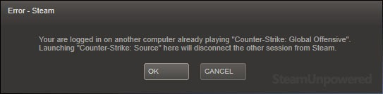 Steam sign on dialog
