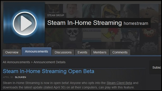 how to use steam in home streaming