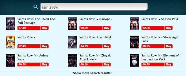 Saints Row Franchise 75% off