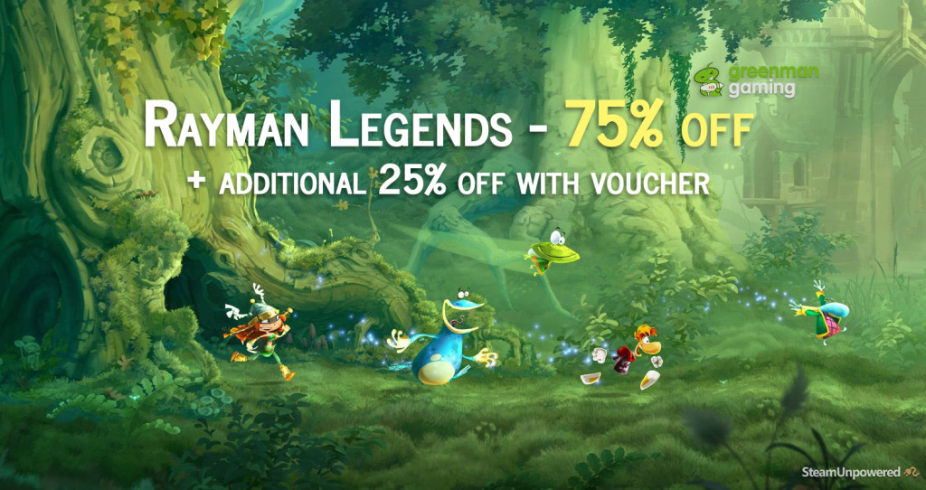 Rayman Legends 75 off UPlay redeemable
