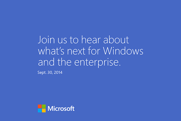 September 30th Windows 9 BETA Microsoft
