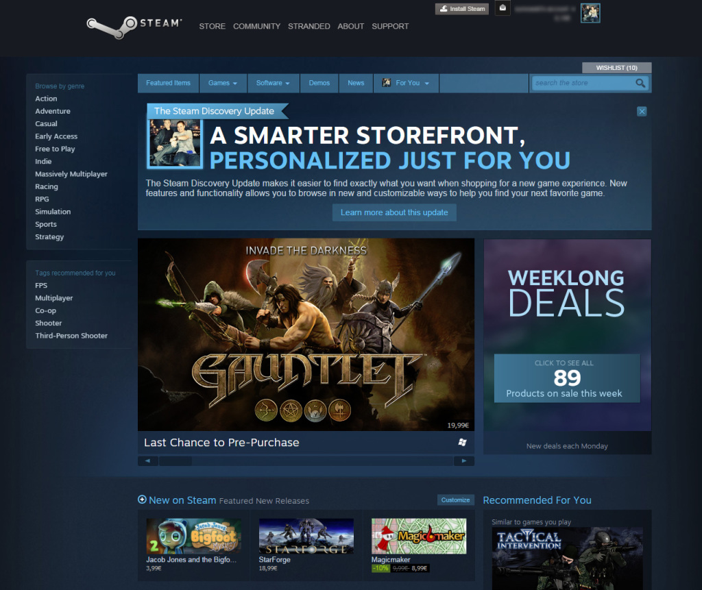 Steam Discovery has launched, store updated