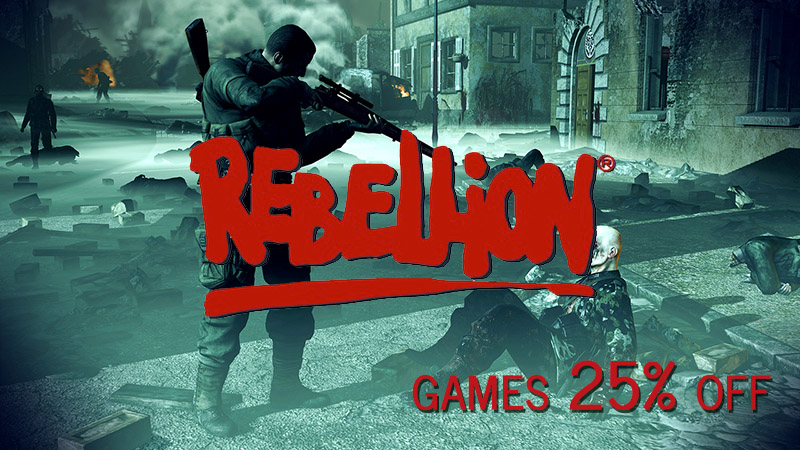 Rebellion Sale 25 on GameFly