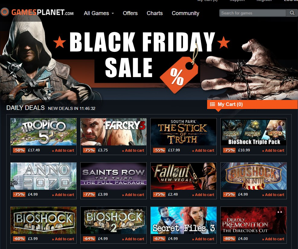 Black Friday Sale begins on GamesPlanet, up to 80 off!