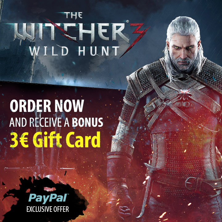 The Witcher 3 Preorder gift card