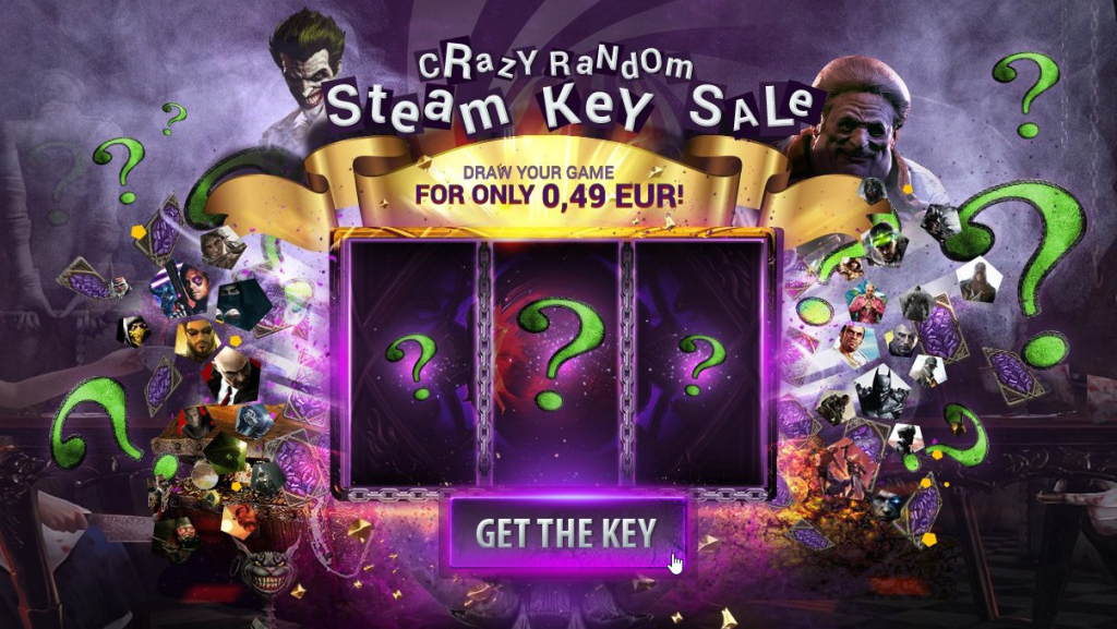Random Steam Keys for €0 49 on G2A | SteamUnpowered