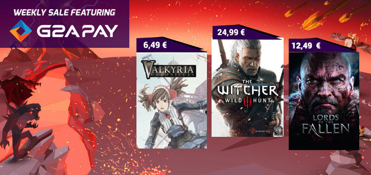 Weekly Sale on G2A Valkyria Chronicles, Witcher 3 and Lords of The Fallen