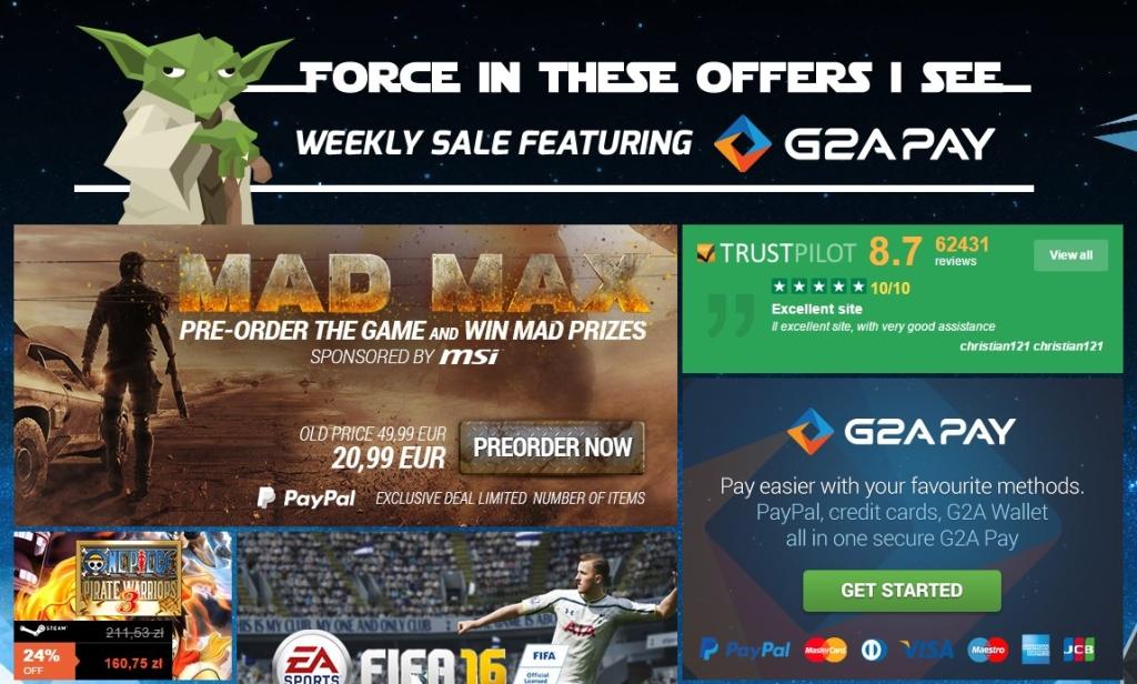 G2A Weekly Yoda