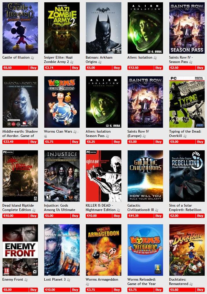 GamersGate End Of Summer Sale Screenshot