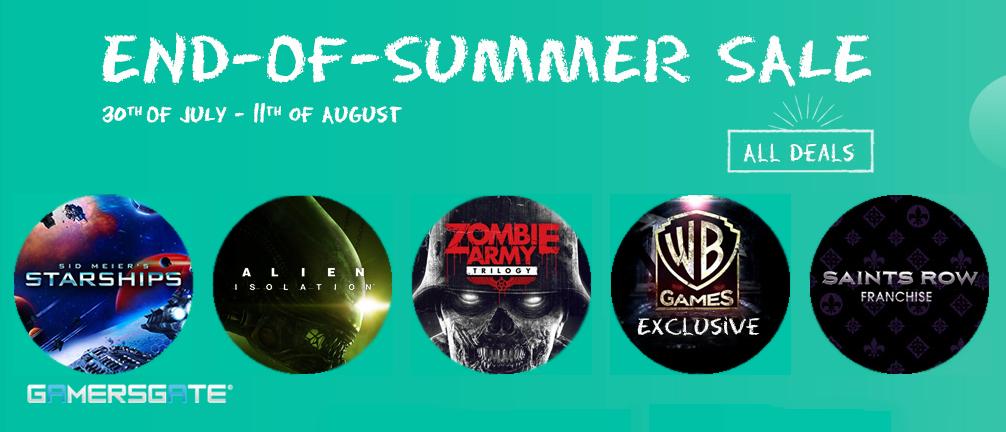GamersGate End Of Summer Sale