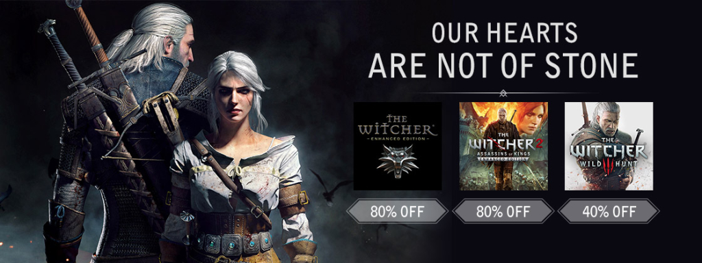 The Witcher series on sale on Games Republic