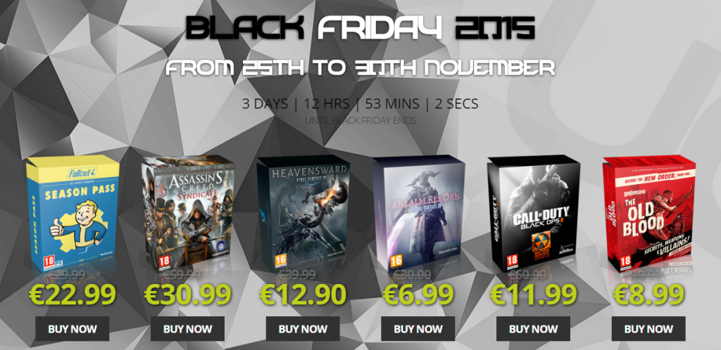 BLACK FRIDAY UNLIMITED GAME STORE