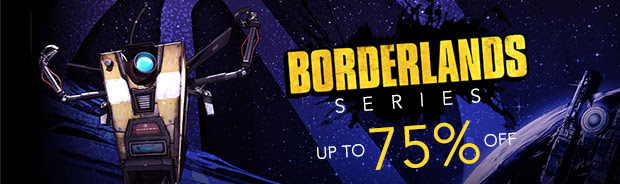 Borderlands Series up to 75% off!