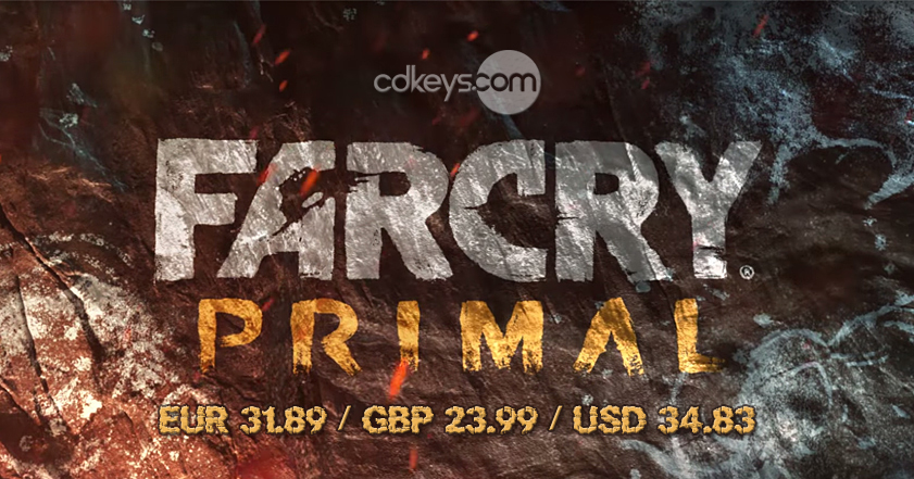 Far Cry Primal Sale Deal Pre-Order CDKEY 2016