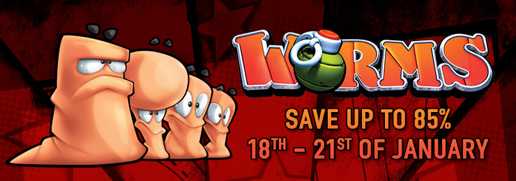WORMS games on sale!