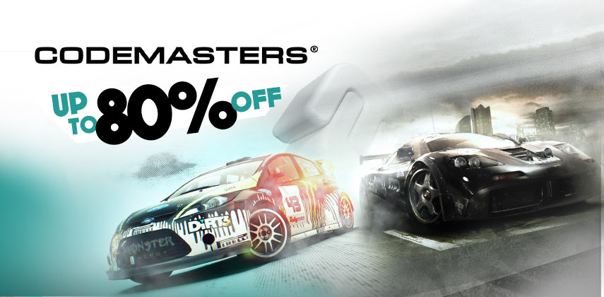 Codemasters up to 80% off!