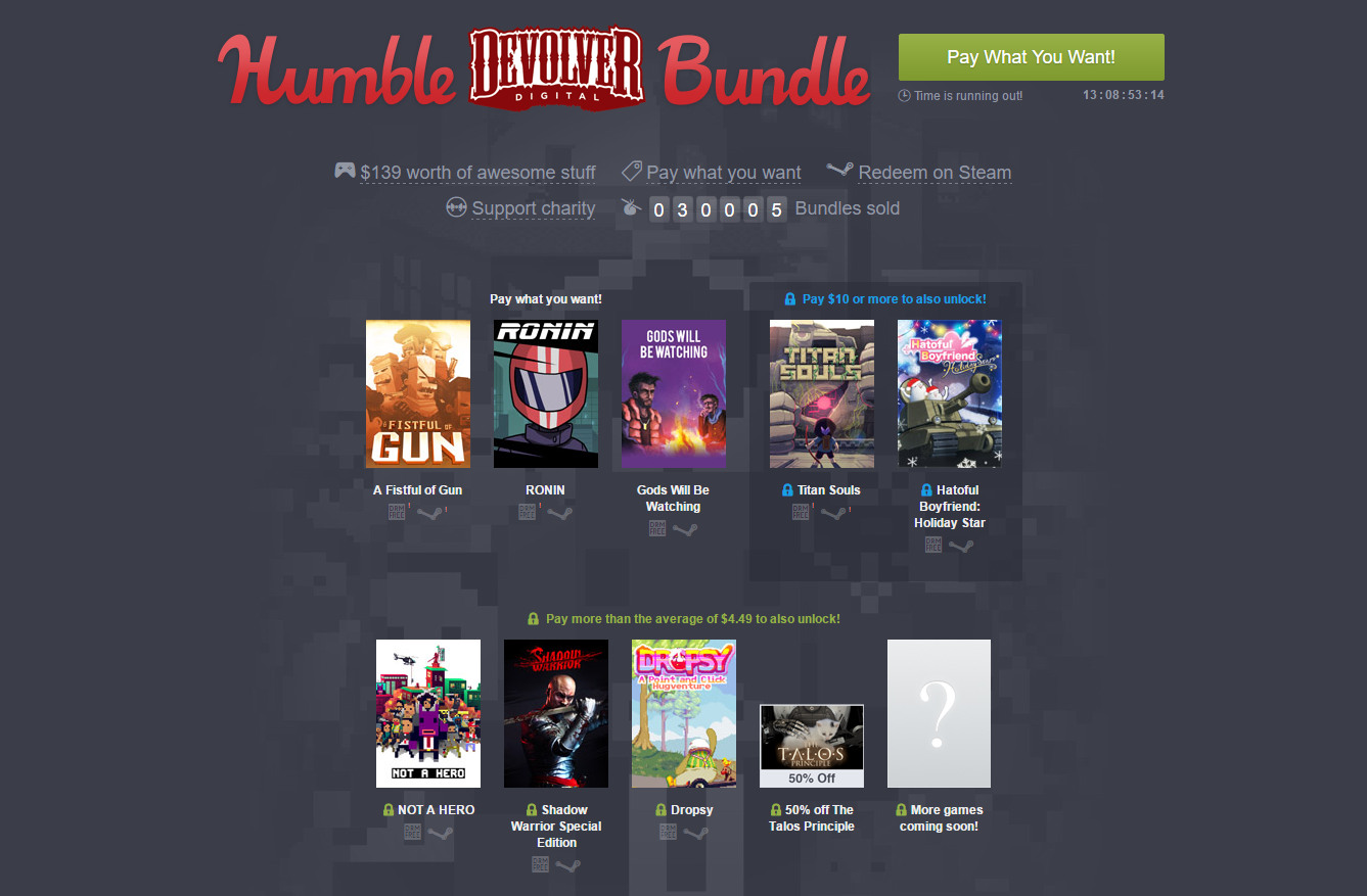new humble bundle is up steam unpowered