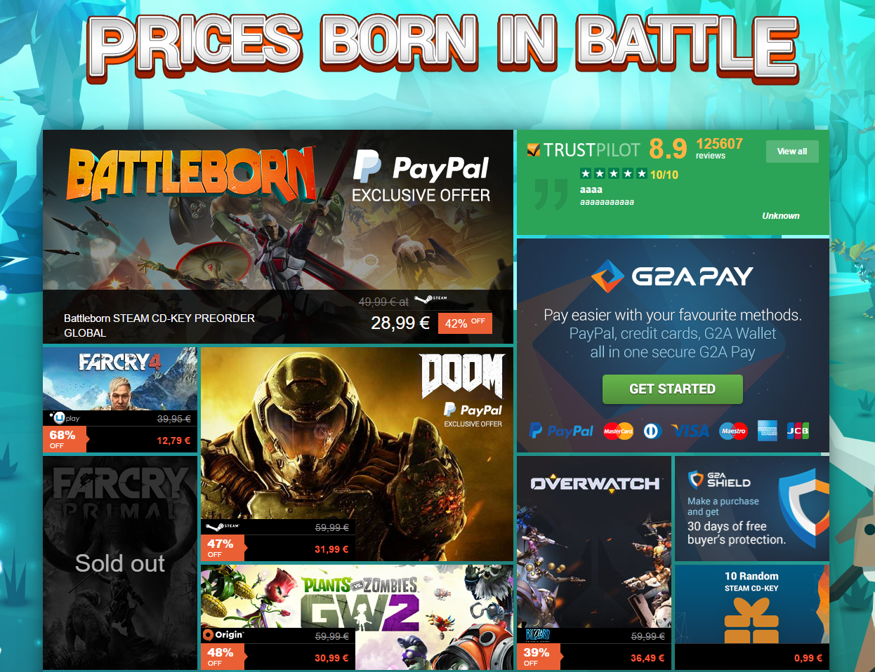 G2A Weekly Sale May 1 2016