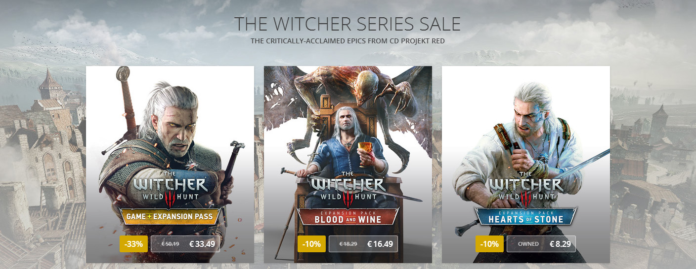The Witcher 3 Sale GOG