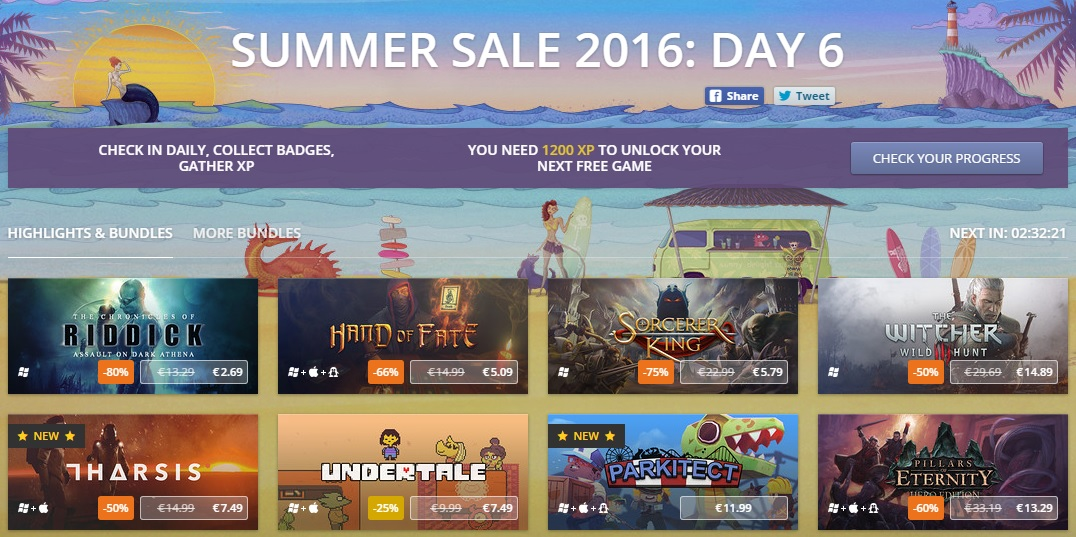 GOG Summer Sale 2016 still going!