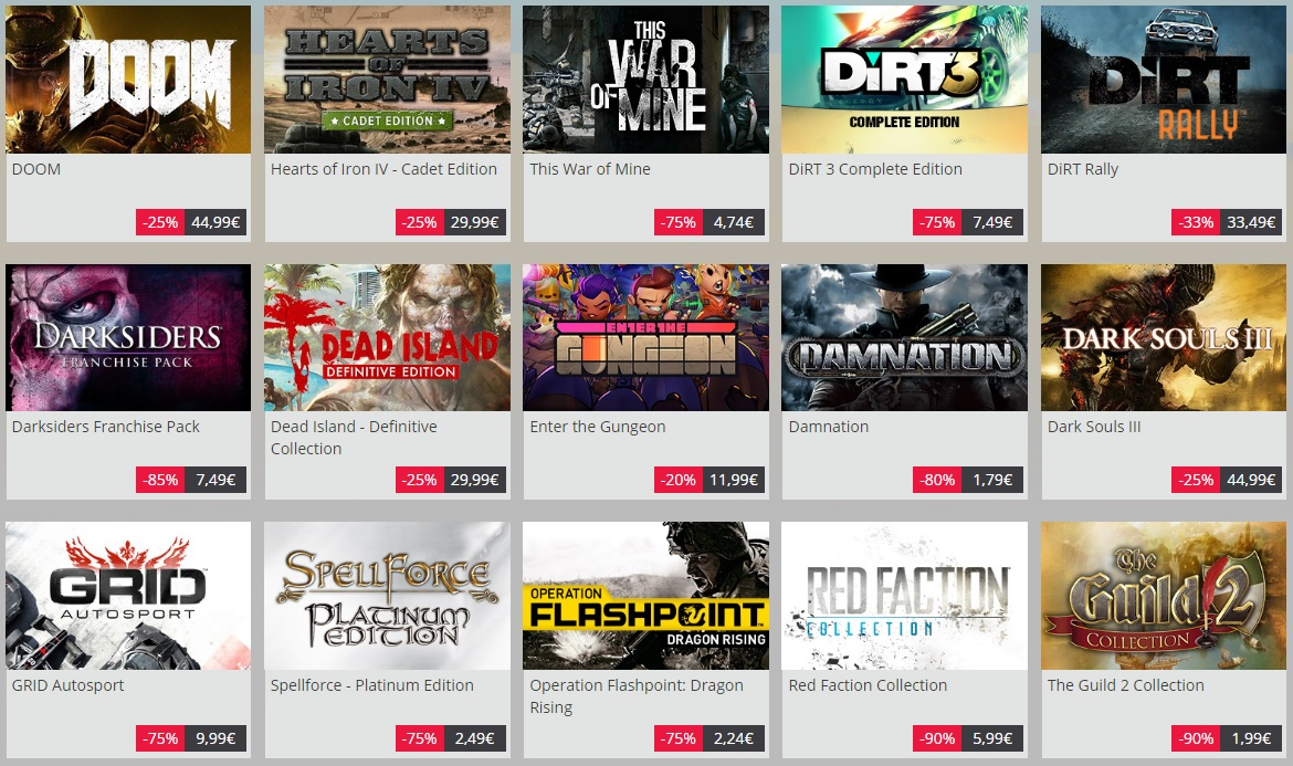 New deals on Games Republic SteamUnpowered Summer Sale 2016