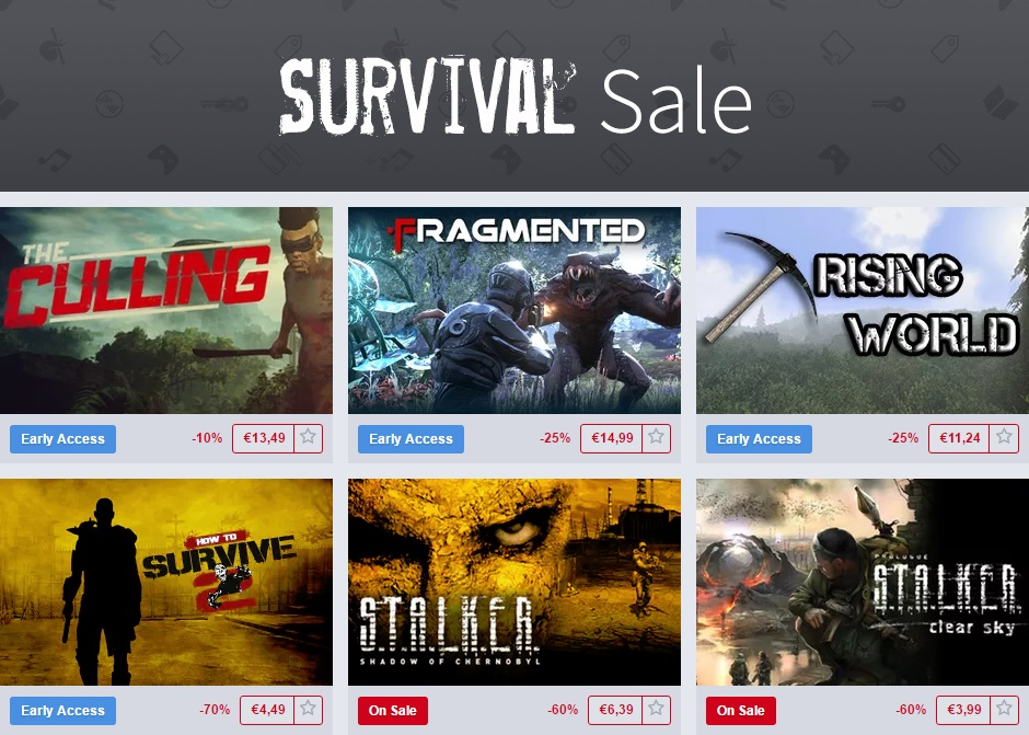 Survival Sale Humble Store