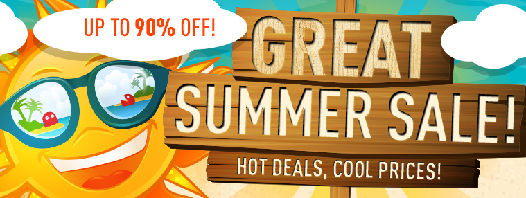 Great Summer Sale up to 90% off!