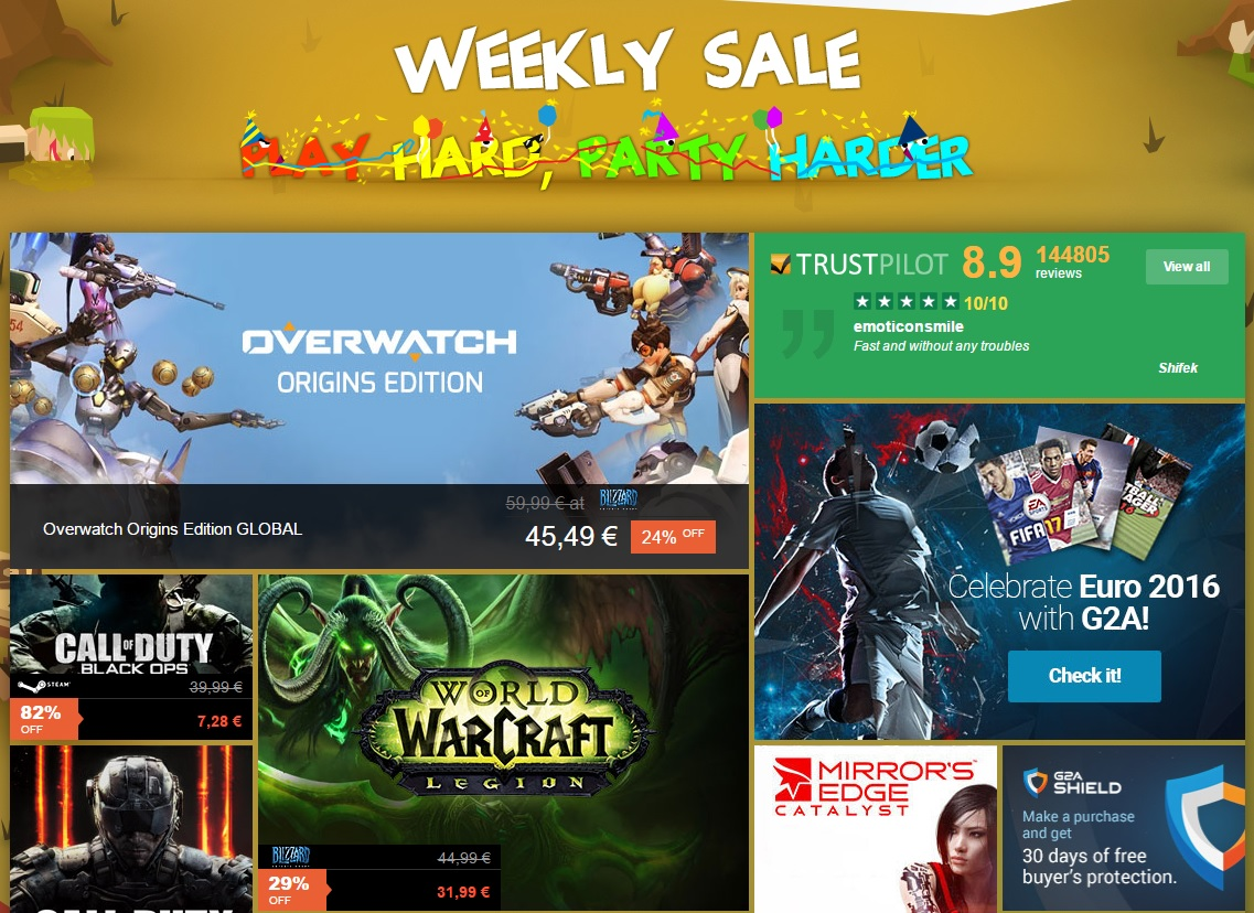 Weekly Sale G2A