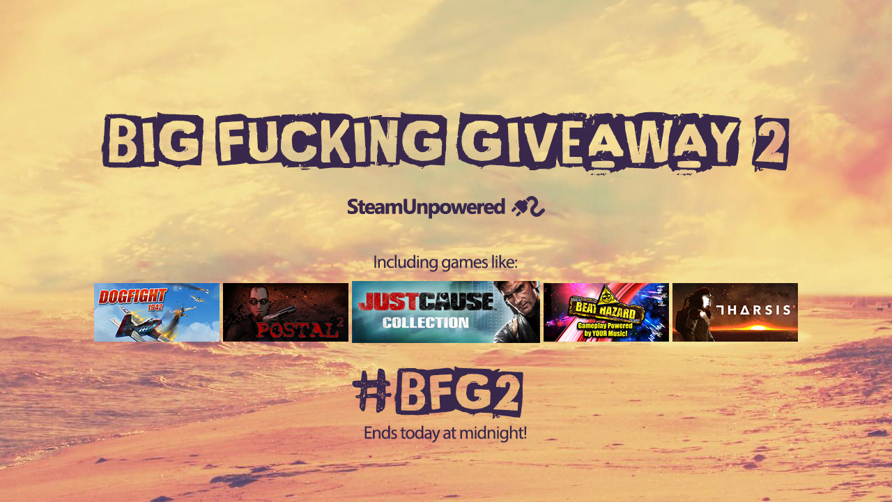 Big Fucking Giveaway 2 Ends Today
