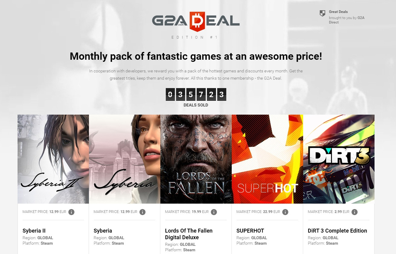 G2A Deal - Monthly subscription service now live