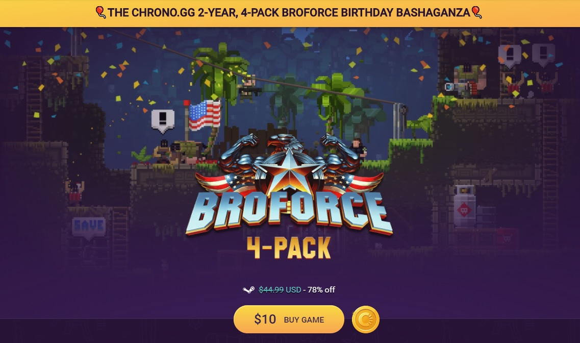 Broforce 4-Pack, Steam alternatives
