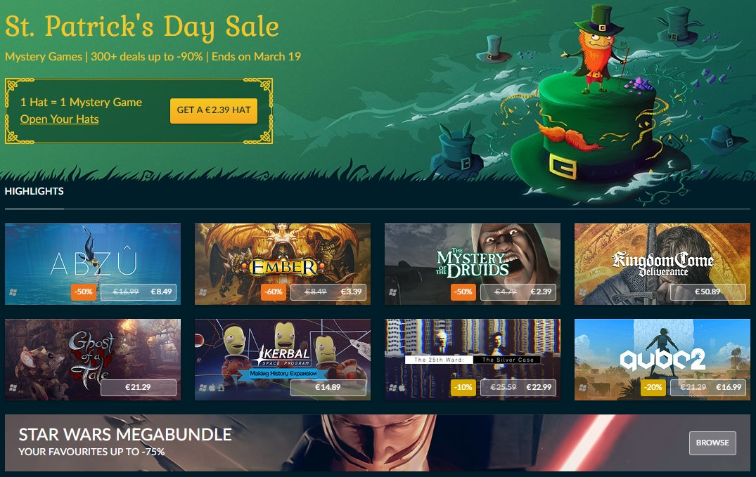 GOG, Steam alternatives, steam redeemable, SteamUnpowered