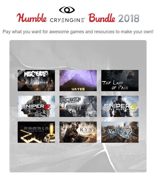 Humble CryEngine Bundle 2018 now available! | SteamUnpowered