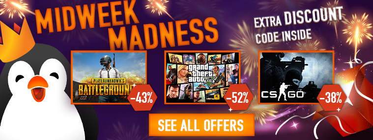 Kinguin: Midweek Madness / 4% off code inside! | SteamUnpowered