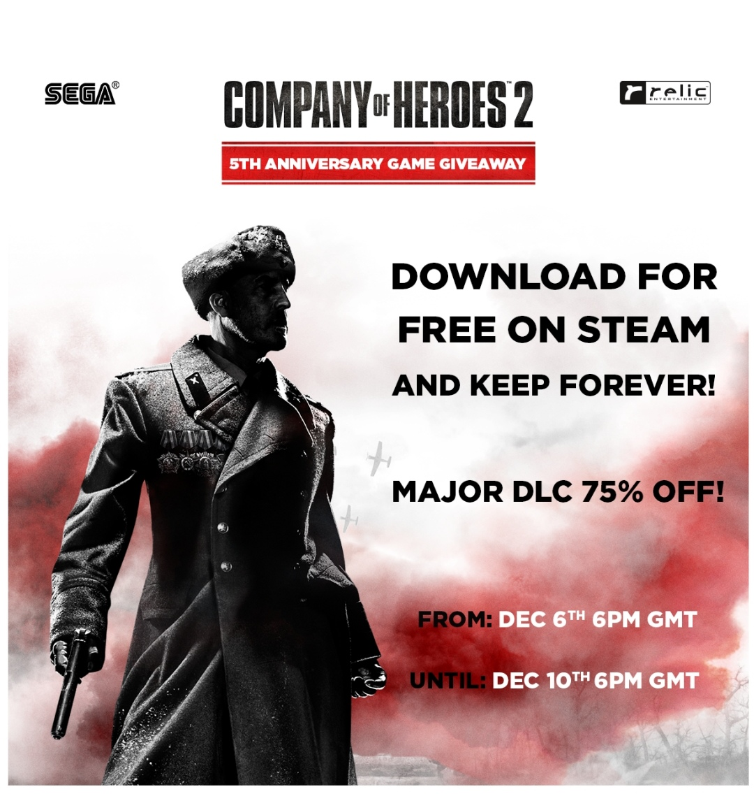 Company of Heroes 2 now free on Steam!