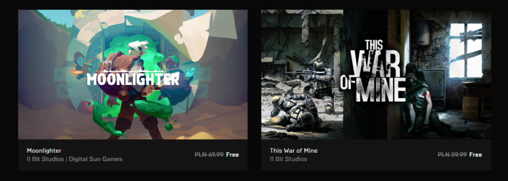 Free games on Epic