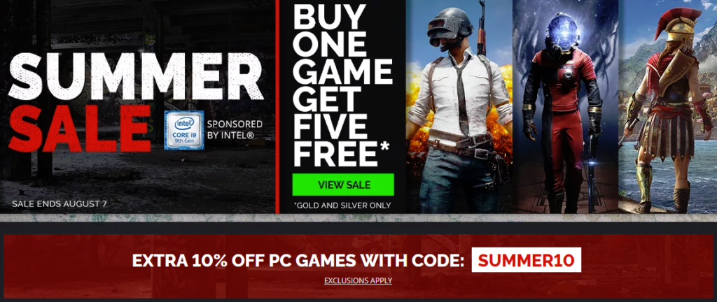 Summer Sale on GMG