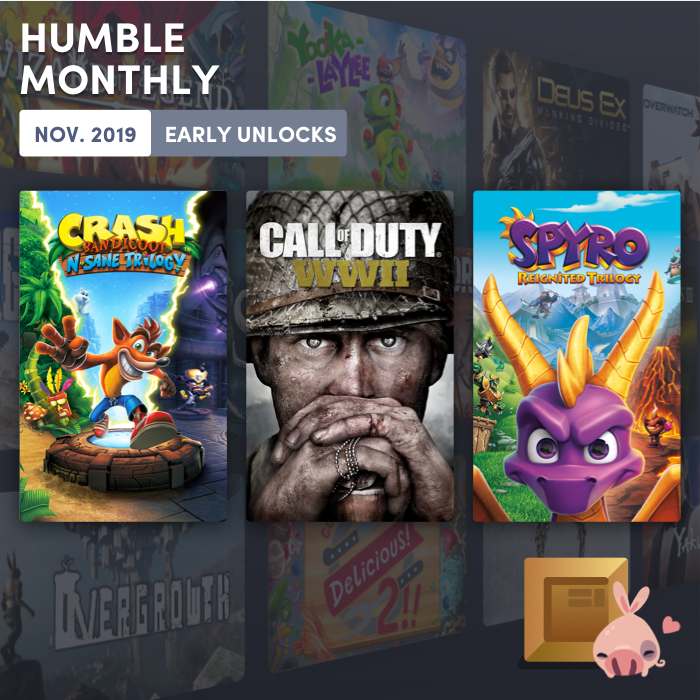 COD: WWII, Crash Bandicoot, and Spyro available now in Humble Monthly!