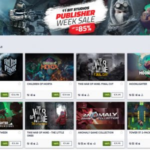 11 bit Publisher Sale on Humble Store