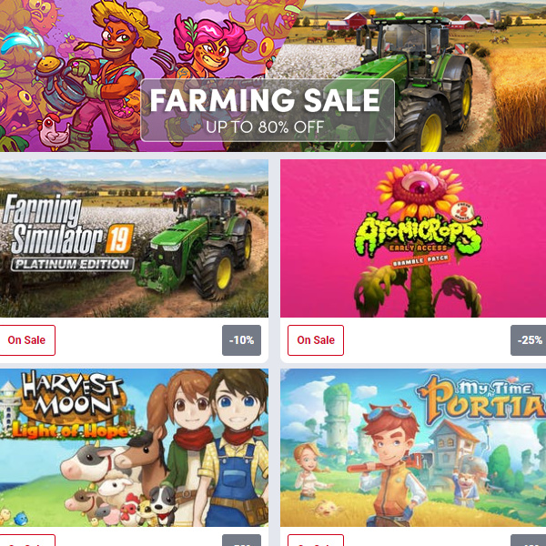 Humble Store: Farming Sale up to 80% off!